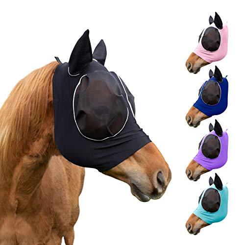 Derby Originals Safety Reflective Bug Eye UV-Blocker Soft Mesh Lycra Horse Fly Mask and Colors