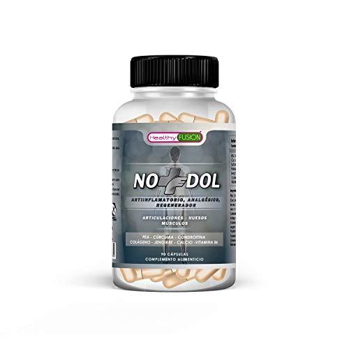 Potente e innovador tratamiento Antiinflamatorio, Analgésico y Regenerador – Con PEA Cúrcuma, Condroitina y Colágeno | Acaba con el dolor continuo o neuropático | Fórmula Eficaz | 90 cápsulas