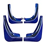 Guardabarros Auto Car 4 PC / Set De Vagones De Barro Colgajos Delantero Guardabarros Trasero Mudflaps Fit For Tesla Model 3 2016 ~ 2019 ABS De Coches Accesorios Azul, Lodo Guardabarros Flaps Guardabar