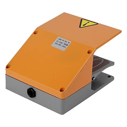 Pedal de interruptor de pie, 380VAC 10A Interruptor de pie de servicio pesado Interruptor de pie, Interruptor de pedal BERM para tornos, Taladros de columna Kit de clip de fuente de