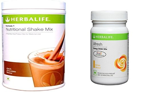 Herbalife Weight Loss Package – 550 g (Formula 1 – Chocolate, Afresh – Lemon)