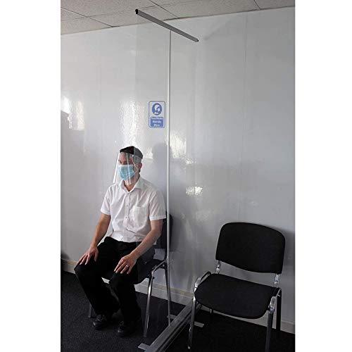 Persönlicher transparenter Hygienebildschirm, tragbares klares Roll-Up-Banner, Bodenständer-Trennwand für soziale Distanzierung, Schulen, Büros, Supermärkte, Restaurants