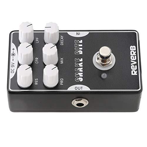 Pedal de efecto de reverberación, carcasa de aleación de aluminio Pedal de reverberación para guitarra Versátil y duradero para accesorios de instrumentos musicales para equipos de audio