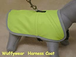 neon yellow dog jumper