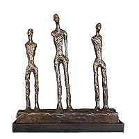 ブロンズ彫刻家抽象デコレーションアクセサリー像装飾彫刻抽象的な現代アート (Color : F)