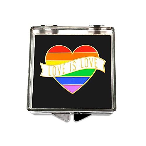 "Gay Pride Heart Rainbow Flag Lapel Pin - LGBTQ Pins - ""Love is Love"" - Enamel Pin Decoration - Perfect For Pride Festivals"