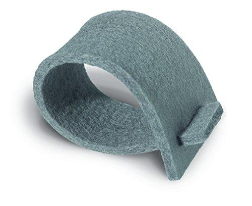 Serviettenringe aus Filz - grau