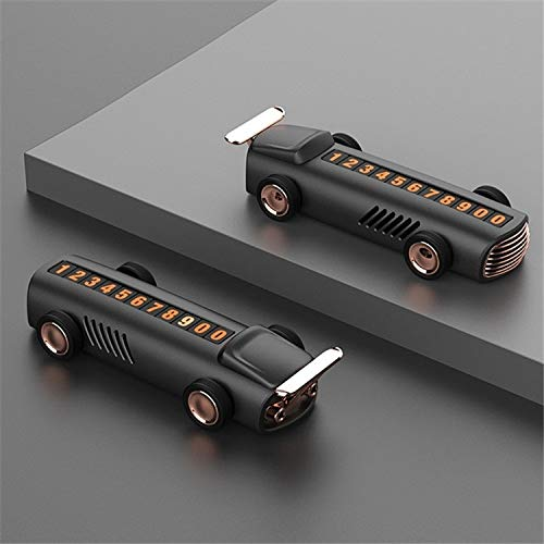 LENASH Placa de aparcamiento impermanente para automóvil con tarjeta de coche oscuro Decoración de perfumes de coche multifuncional Utilidad de coche