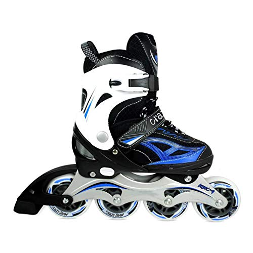 Crazy Loop Semi-Soft Inline Skates (YX-0151-55) Grey Large