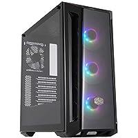 Cooler Master MasterBox MB520 RGB - Caja PC ATX Panel Frontal Tintado, 3 x 120mm Ventiladores Preinstalados, Panel Lateral de Vidrio, Configuraciones Flujo de Aire Flexible - RGB