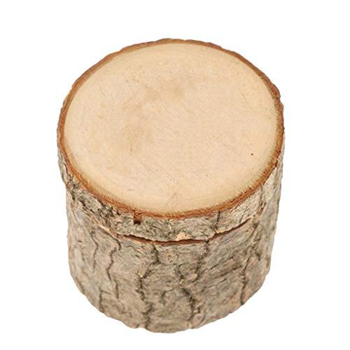 Yujum Vorschlag Ehering Box Holz Verlobungsring-Halter aus Holz Halskette Schmuck Kasten
