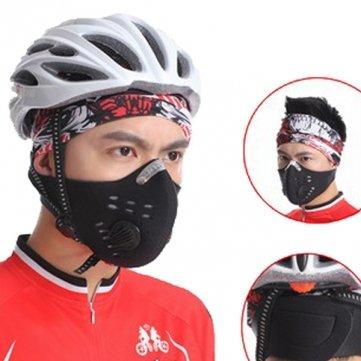 Souked Máscara Boca mufla polvo contaminación - libre Filtro motocicleta de la bicicleta del polvo