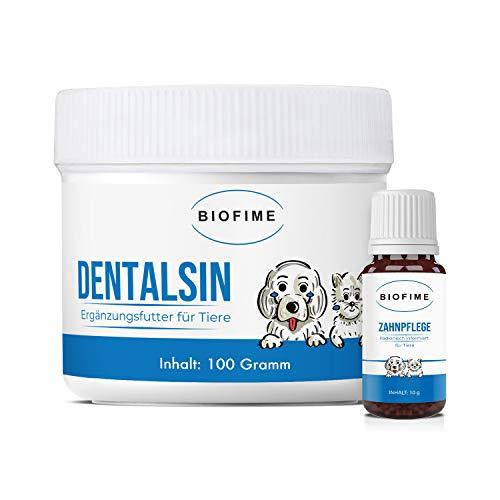 Biofime | Zahnpflege | Zahnstein | für Haustiere (Hund, Katze, Pferd) | weiße Zähne | radionisch informiert | 100{b7ccfe065e6118dc3046acedbc63cf645ea2c056f2b9b802962dfa177ad39323} natürlich