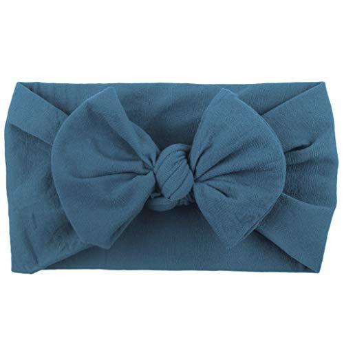 YIMOLL Petites Garçon Fille Princesse Bandeaux Bandeau Headwrap en Cotton Turban élastique Couleur Unie Mignons Accessoires Doux avec Bow Bandeaux à Cheveux Unisexe(0-2 Ans bébé)