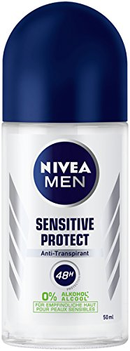 NIVEA MEN Sensitive Protect Deo Roll On im 6er Pack (6 x 50 ml), Antitranspirant Roller für sensible Haut, Deodorant mit 48h Schutz