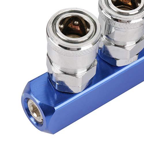 Conector de conexión, conexión rápida hembra, 2/3/4/5 vías para dispositivo neumático para conexión de manguera de aire(Straight five-way)