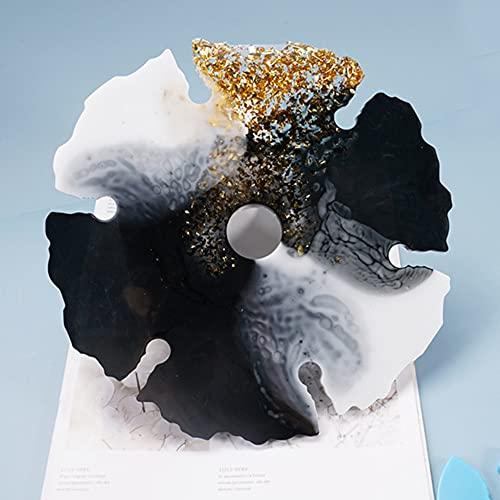 Landia Home Decor - Juego de moldes de silicona para vino tinto, flores y gafas, decoración para el hogar