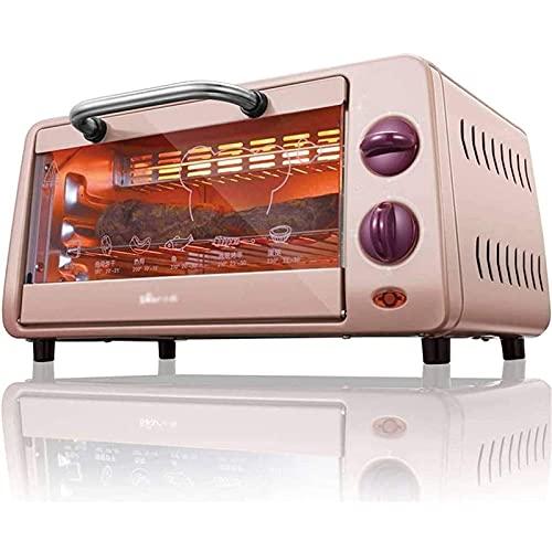 LYYJIAJU Horno Eléctrico Multifunción de Sobremesa 10L Mini Horno Temperatura Ajustable 100-250  Y 30 Minutos Temporizador HOGAR HORNADO HORNOS ELÉCTRICOS 800W