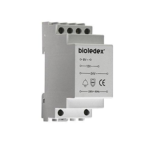Bioledex transformador para timbre de 8 V, 12 V, 24 V y 8VA para carril DIN