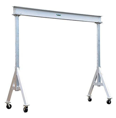 Vestil AHA-6-12-8 Aluminum Adjustable Gantry Crane, 6000 lb. Capacity, 12' Overall Beam, 96
