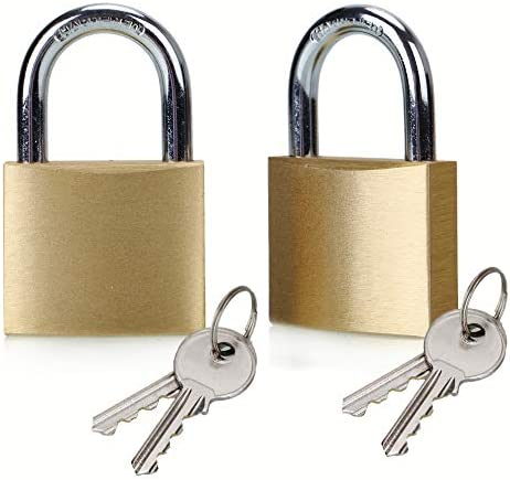 ABRAFOX Lock Solid Brass Keyed Different Padlock 40mm 2pack product image