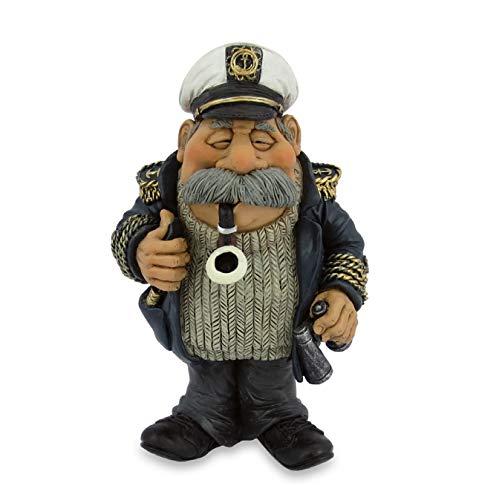 Les Alpes Figura de la profesión Capitán, 14,2 cm - estatua pintada a mano con mucho cariño sobre resina, muchos detalles - Figurilla Colección de estatuas Funny World Professions diversi