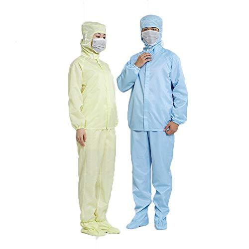 Dear, you Indumenti di Protezione Anti statico complesso Tuta con Cappuccio Tute Anti-Radiazioni Particelle di Polvere Riutilizzabile (2PCS),XL/175cm