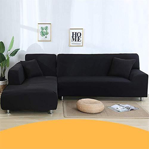 GAOZHEN Fundas de sofá de Color sólido para Sala de Estar Fundas de Spandex elásticas Fundas de sofá Toalla de sofá elástica