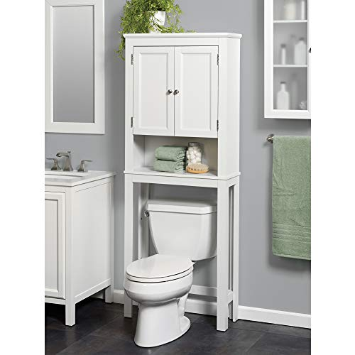 Zenna Home Custom Suite Over-The-Toilet Spacesaver, White