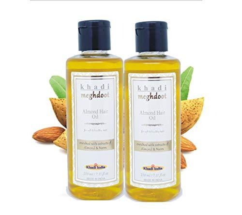 Khadi Meghdoot Almond Hair Oil 210ml (Pack of 2)