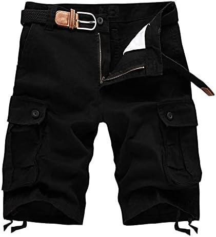 FMSZDSTMDNSDK Short Shorts for Men, Men Shorts Fashion Plaid Beach Shorts Mens Casual Shorts Pants Male Cargo Overalls (Color : Black, Size : 30)