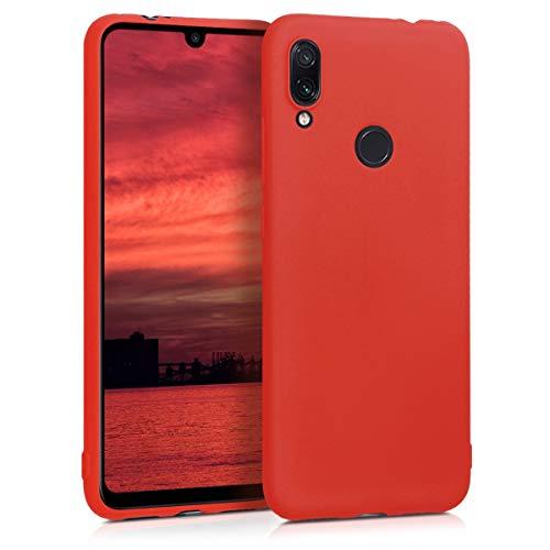 kwmobile Funda Compatible con Xiaomi Redmi Note 7 / Note 7 Pro - Carcasa de TPU Silicona - Protector Trasero en Rojo neón