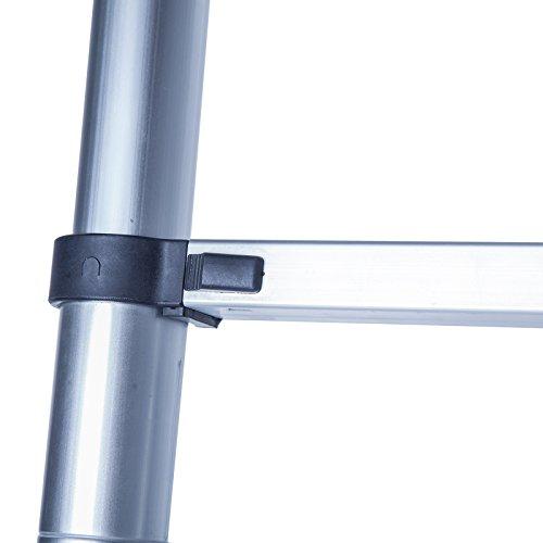 Idealchoiceproduct 10.5 FT Aluminium Telescopic Telescoping Ladder Extension Steps