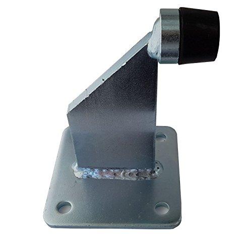 SO-TOOLS® Torstopper Höhe 144 mm verzinkt mit Ankerplatte 100 x 100 mm Türstopper für Rolltore und schwere Türen