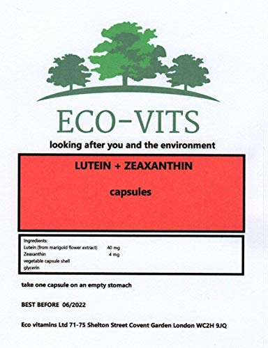 ECO-VITS Lutein (40mg) & ZEAXANTHIN (4mg) 365 CAPS