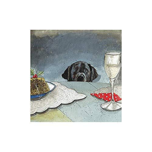 Alex Clark Buddy's Christmas Card Pack (Pack van 5 kaarten) Labrador aan de tafel afbeelding