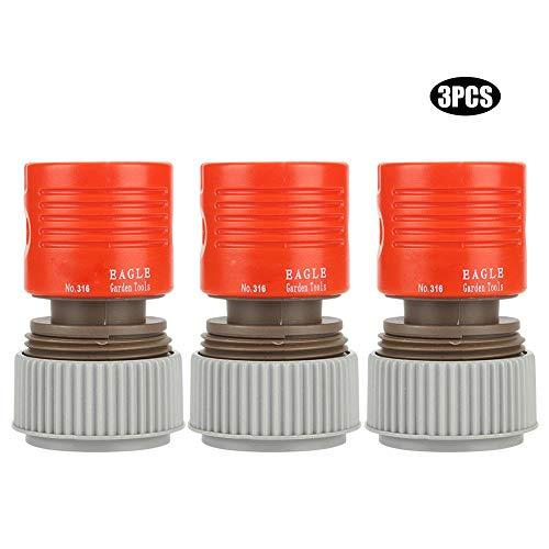 Longzhuo Conector de tubería de Agua, 3 uds, Irrigación de jardín, Manguera de Agua de PVC de 3/4', Adaptador de Grifo, Accesorio de Conector
