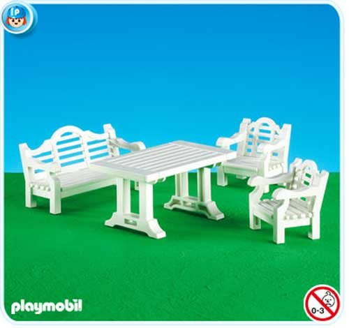 PLAYMOBIL 7929 - traditionelle Gartenmöbel