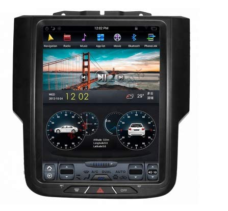 Dodge RAM 2013-2017 10.4' Android 8 with 4GB RAM 32GB ROM Built-in CARPLAY Fast Boot NAVI Radio Stereo GPS Tesla Style in-Dash Unit (OEM Manual AC)