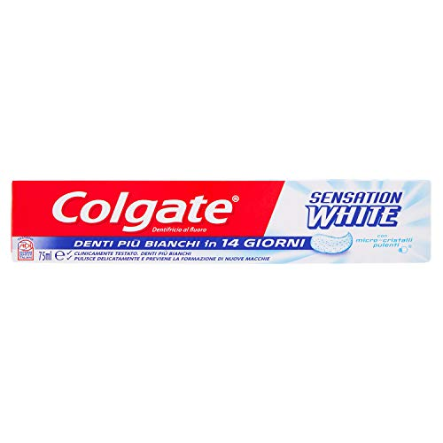 Pasta de dientes blanqueadora COLGATE Sensation, dientes más blancos en 14 días 75 ml