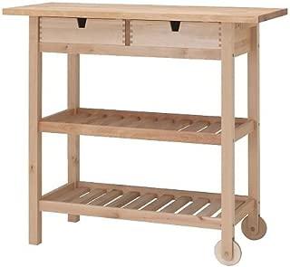 IKEA FORHOJA - Kitchen trolley, birch - 100x43 cm