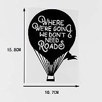 ステッカー剥がし 我々は道路ビニール車ステッカーデカール熱気球ブラック/シルバーを必要としないつもりだ10.7X15.8CM ステッカー剥がし (Color Name : Black)