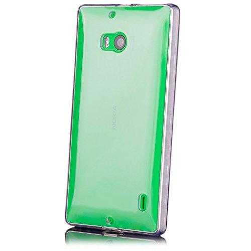 iCues Schutzhülle kompatibel mit Nokia Lumia 930 Transparent TPU Hülle Klar   [Bildschirm Schutzfolie Inklusive] Transparent Klarsichthülle Durchsichtig Klare Klarsicht Silikon Gel Hülle Cover Schutz