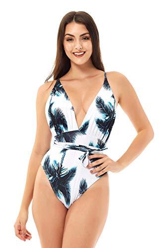 NUUR Traje de baño de Mujer de Una Pieza Elegante Push up Bikini Mujer Bañador de Playa