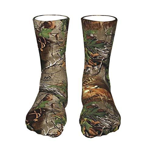 Real Tree Camo Deer Turquía Woods Unisex Transpirable Divertido Quarter Calcetines de fin de semana Lounge Corto Crew Calcetines de Mujer Atléticos Calcetines de Viaje