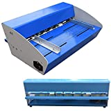 Máquina de lijado eléctrica de metal de 460 mm, 3 en 1 perforadora de papel, máquina de corte de ranurado eléctrico, para anotación de libros de tarjetas de papel