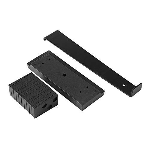 22PCS Parquet Herramientas apropiadas de instalación en el suelo Conjunto de herramientas con espaciadores Tapping bloque de tracción Pub en el suelo de madera Negro