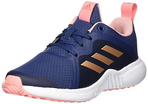 adidas Unisex-Child Fortarun X Road Running Shoe, Tech Indigo/Copper Metallic/Glory Pink, 39 1/3 EU