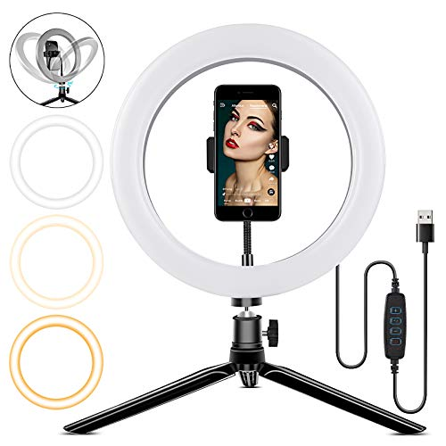 Taotuo Desktop Ring Light with Aluminum Alloy Shell Only $6.00 (Retail $25.99)