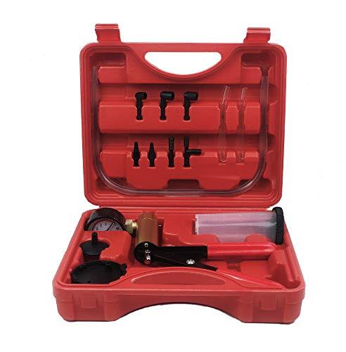 ThreeH Tester per Pompa a Vuoto con adattatori, Set di Strumenti per spurgo del Liquido dei Freni per Moto e Auto Tubi Kit spurgo Freni MA06